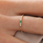 Women's Rings Vintage Emerald Small Zircon Inlay Luxury Ring Size 5-10 image