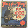 Vintage Game Puzzle Peg w Owl Graphics on Original Box Lubbers & Bell 1930s
