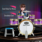 Kids Toy Drum Set 5 Drums with Small Cymbal Stool Drum Sticks for Children