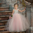 Kyпить Toddler Flower Girl Princess Dress Kids Baby Party Wedding Lace Tulle Tutu Dress на еВаy.соm