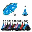 C-Handle Double Layer Umbrella Windproof Folding Inverted Upside Down Reverse BS