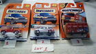 6 different Matchbox cars,  #35 '56 Ford Red Pick Up 1997 Mattel....
