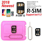 NEW 2018 RSIM 12+ R-SIM Nano Unlock Card fits iPhone X/8/7/6/6S 4G LTE iOS 10 11