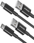 Anker 2x 3Ft Premium Nylon USB-C to USB-A Fast Charging Type C Cable for Samsung