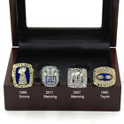 4 PK New York Giants Super Bowl Rings World Champions Eli Manning Boxed Replica
