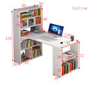 Modern Computer Desk Home Office PC Laptop Table With Shelves Corner Unit White