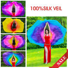 1PC Semi circle Womens 100 Silk Scarf Shawl Belly Dance Veil Stage Performance