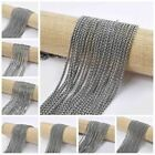 5M*2MM Silver Color Chain fit DIY Stainless Steel Chain Jewelry DIY Necklace