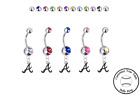 Atlanta Braves Style 3 Silver Belly Button Navel Ring - Customize Gem Color NEW on Ebay