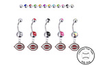 Cincinnati Reds Silver Belly Button Navel Ring - Customize Gem Color - NEW on Ebay