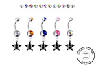 Houston Astros Style 3 Silver Belly Button Navel Ring - Customize Gem Color NEW on Ebay
