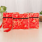1PC Silk Jewelry Chinese Style Coin Tassel Zipper Pouch Bags Wedding Party Gift&