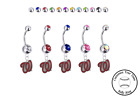 Washington Nationals Style 2 Silver Belly Button Navel Ring Customize Color NEW on Ebay