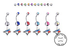 Toronto Blue Jays Silver Belly Button Navel Ring - Customize Gem Color - NEW on Ebay