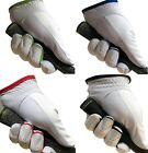 White LEATHER MENS LADIES Golf Glove LEFT RIGHT Hand Black,Blue,Red,Green
