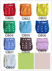 Washable Baby Infant Reusable Cloth Diapers One Size Pocket Nappy Covers Inserts