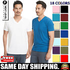 Next Level Apparel Mens T-Shirt Sueded V Neck 6440 Short Sleeves T Shirt XS-2XL image
