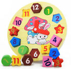 Внешний вид - rabbit mushroom digital geometry clock intellect wooden toy baby birthday gift