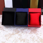 Square Cardboard Storage Case Watch Bangle Jewelry Gift Box with Pillow Pad GIL image