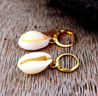 BOHO FESTIVAL BEACH SEA SHELL CONCH HOOP SMALL DROP DANGLE EARRINGS UK SELLER 6
