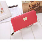 Women Leather Wallet Long Zip Purse Ladies Card Holder Case Clutch Phone Handbag