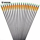 12/24Pcs 30 Inches Spine 500 Fiberglass Arrows With Replace Arrowhead Adjustable