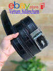 4cm - JOINTED Belt - Genuine Crocodile  Skin Leather - BORDER KNIT Handmade
