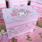 Cute My Melody Japan Anime Holiday Gift Desktop Storage Rack Jewelry Box Wooden