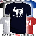 GOAT T-Shirt Tom Brady 12 New England Patriots Jersey Tee Greatest of all Time on eBay