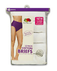 """Fruit of the Loom Womens 100% Cotton Brief Panties Value 12-Pack (Size 6 38-39"""")"""