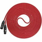 LyxPro Balanced XLR Cable 15 ft Premium Series Professional Microphone Cable  Po