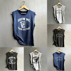 Summer Womens Casual Print Tank Ladies Tops Vest Baggy Cami Beach Tee Size 6-16