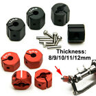 4pcs Replacement 8/9/10/11/12mm Diy Thickness Alloy Hex Wheel Hubs Rc Car Parts
