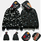 BAPE Mens A Bathing Ape Space Camo Shark Hoodie Full Zip Sweater Coat Jacket Hot