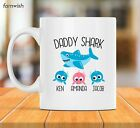 Personalized Daddy Shark Mug Fathers Day Gift Papa Shark Mug Dad Gift Mug