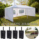 6M x 3M Garden Party Gazebo Tent Marquee Outdoor Party Awning Canopy 4 Sand Bag