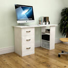 Mason Computer Desk 3 Drawer 3 Shelf Laptop PC Table Home Office Workstation