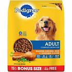 Pedigree Adult Dry Dog Food Chicken, Carrot, Rice, Green Bean, 5 Optional Sizes