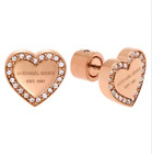 Michael Kors Pave Heart Stud Earrings New with Dust Bag image