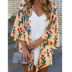 Women Floral Print Chiffon Loose Shawl Kimono Cardigan Top Cover up Shirt Blouse <br/> ❤️US Seller❤️Fast delivery❤️Easy return❤️High Quality