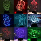 US Movie Star Wars Cartoon Kid 3D LED Night Light Party Table Lamp Xmas Gift $12.34 USD on eBay