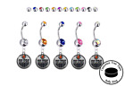 Edmonton Oilers Silver Belly Button Navel Ring - Customize Gem Color - NEW $19.99 USD on eBay