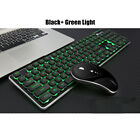 2.4G Wireless LED Light Backlit Silent Keyboard & Mouse Laptop Computer Office