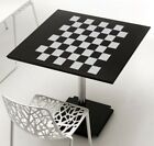 Checkerboard Chess Board Design Frosted Etched Glass Vinyl Sticker Decal