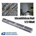 1/2/4Roll 9.5m Wall Paper Brick Pattern Waterproof Moisture-Proof DIY Wallpaper