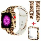 For Apple Watch Silicone Leopard Print Strap Series 4 3 2 1 Case+Band 38/42/44mm image