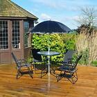 Kingfisher 4 Seater Outdoor Garden Furniture With Glass-topped Table