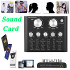BT Audio Live Sound Card Microphone Headset Mixer Boardcast Voice Changer Phone