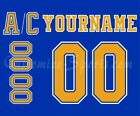 St Louis Blues Customized Number Kit for 1967 1984 Blue Jersey