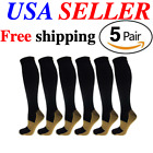 Kyпить (5 Pairs) Copper Compression 20-30mmHg Graduated Support Socks Mens Womens S-XXL на еВаy.соm